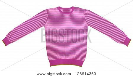 T-shirt - Pink And White Striped