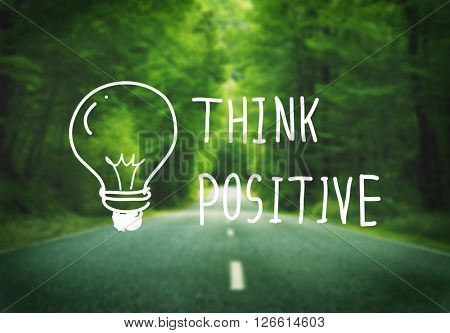 Think Positive Attitude Optimism Inspire Concept