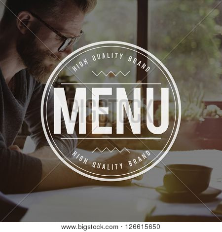 Menu List Selection Choice Concept