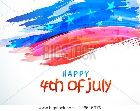 Creative American National Flag color background for 4th of July, Independence Day celebration, can be used as Poster, Banner or Flyer design.