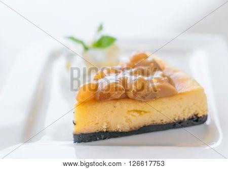 Slice of New York Cheesecake