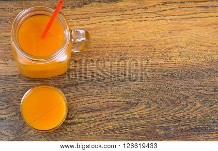 Healthy food: pumpkin juice, apple, orange, multifruit. Studio Photo