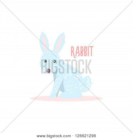 Rabbit Drawing For Arctic Animals Collection Of Flat Vector Illustration In Creative Style On White Background