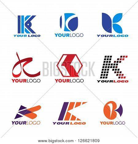 Letter K logo vector set art design
