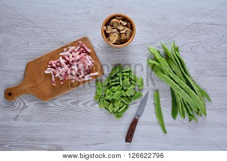 Food Ingredients On Table In Close-up