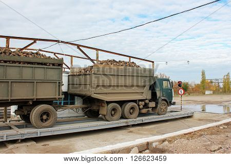 Agricultural Vehicle Harvesting Sugar Beets