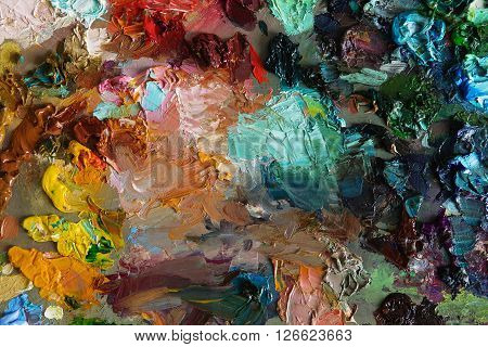 Art Palette Background Texture