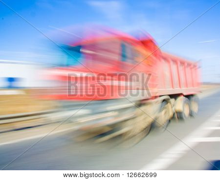 Truck Blurred up to invisibility. Speed!!!