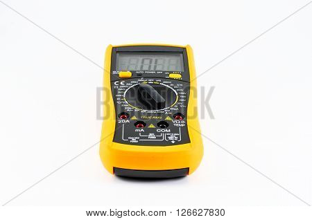 Electric multimeter isolated on white Electric multimeter isolated on white use in lab