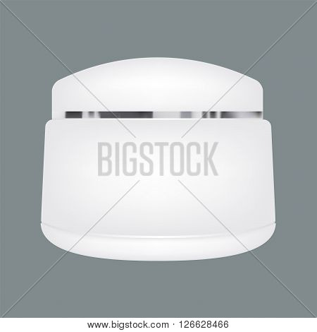 Blank cosmetic containers isolated on solid background. Vector mock up design.