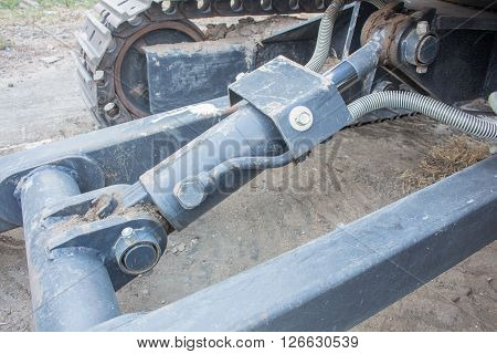 The Hydraulic cylinders use on excavators or tractor.