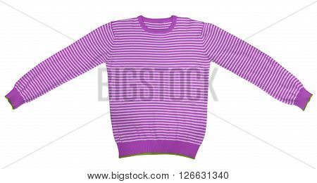 T-shirt - Purple And White Striped