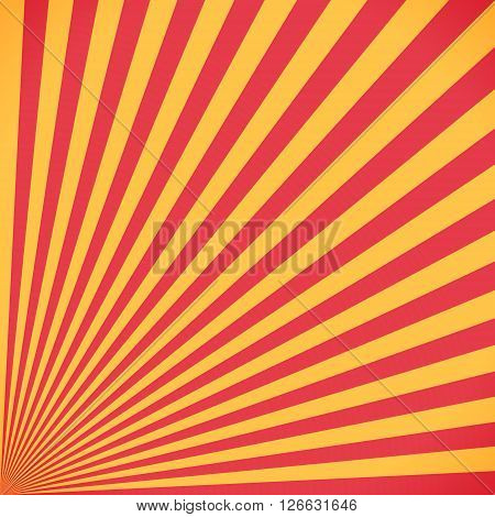 Red And Yellow Sunburst Circle And Background
