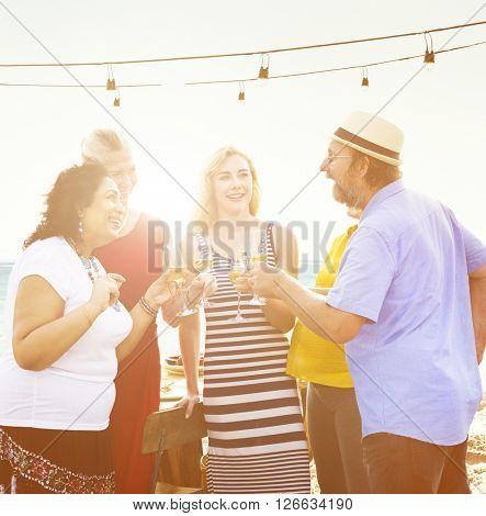 Friends Bonding Celebration Food and Beverages Picnic Concept