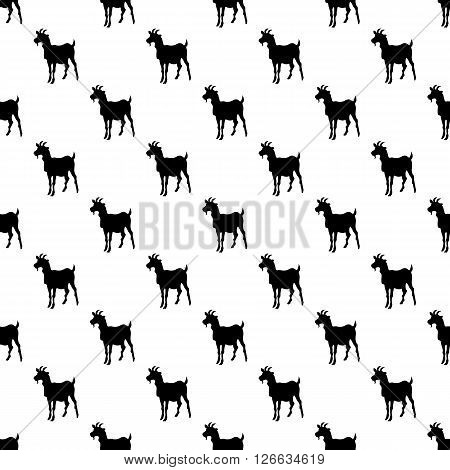Goat pattern seamless black for any design