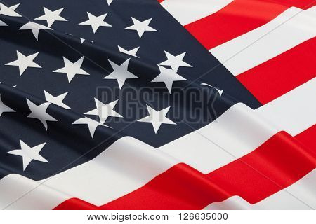 Series Of Neat Ruffled Flags - United States Of America