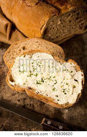 Cheese Cream On Bread