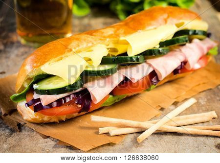 Delicious Submarine Sandwich