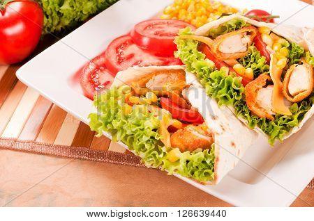 Tasty Chicken Wrap