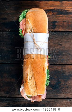 Submarine Sandwich From Above