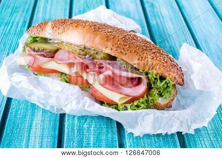 Submarine Sandwich Packed