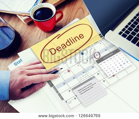 Deadline Due Date Appointment Schedule To Do Concept