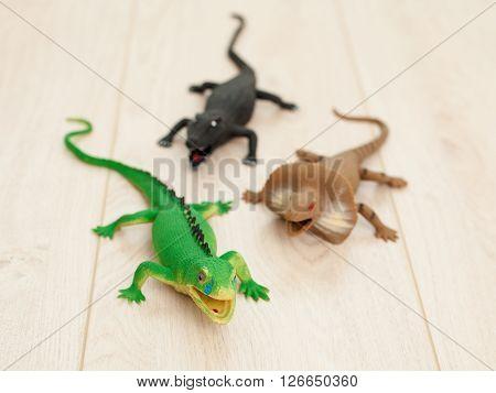 Toy Reptilians Attack
