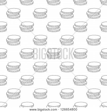 Coins pattern seamless black for any design