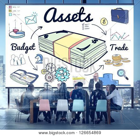 Assets Property Financial Money Estate Capital Budget Concept