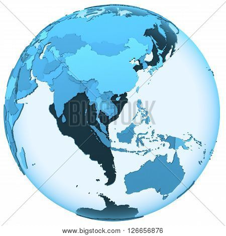 Asia On Translucent Earth