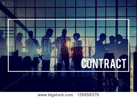 Contract Agreement Deal Partnership Binding Concept
