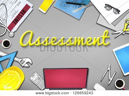 Assessment Evaluation Review Examination Concept