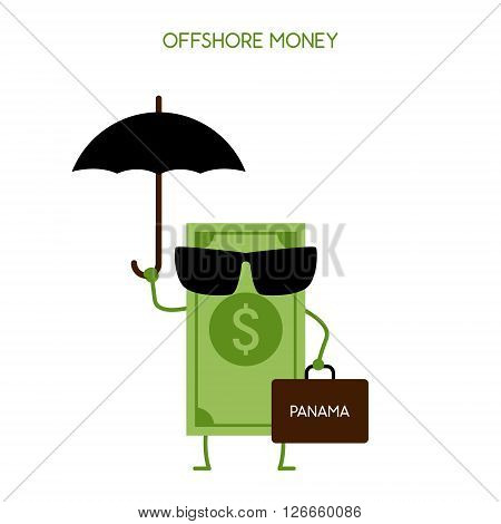 money hidden in an offshore zone. Tax avoidance. Panama offshore zone.