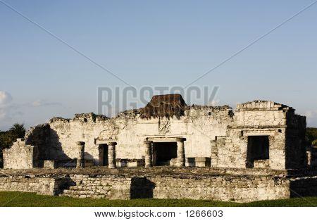 Mayan Archeologic Site Of Tulum