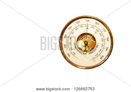 Barometer is isolated on a white background