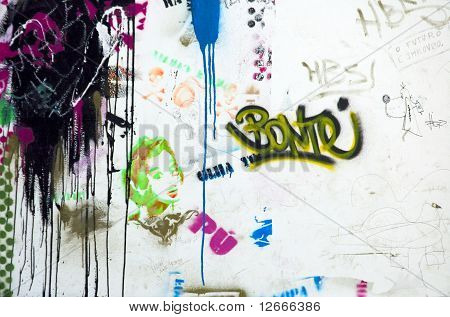 Graffitti And Ink Spots