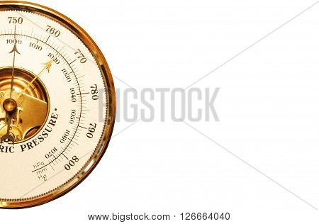 Metrologist's barometer is isolated on a white background