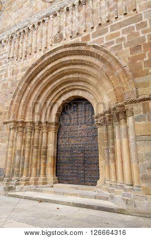 Abbey church, Romanesque XII century, Veruela Monastery in Saragossa, Aragon, Spain