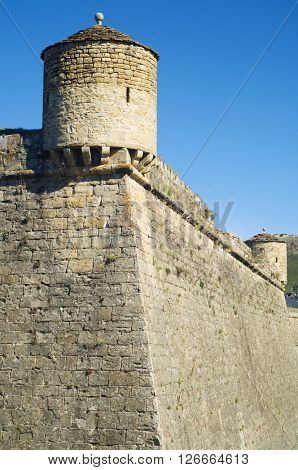 Tower in the castle of St. Peter, known as La Ciudadela, Jaca, Huesca, Aragon, Spain
