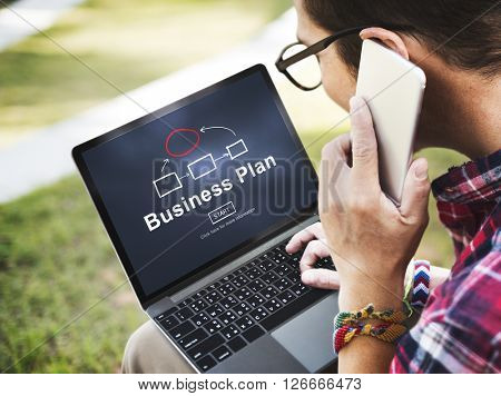 Business Plan Marketing Strategy Vision Planning Concept
