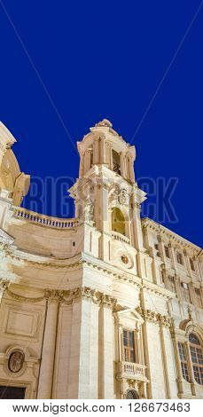 Sant'Agnese in Agone church on the Piazza Navona, Rome, Italy