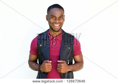 Handsome Young  African Guy Smiling
