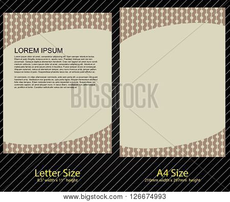 Letterhead Design with Letter and A-4 size template