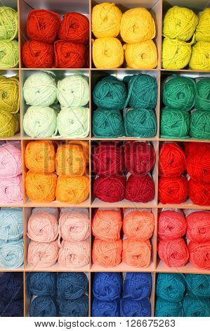 Many Balls Of Soft Wool For Sale In The Wholesaler's Shop