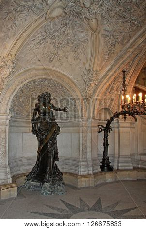 Paris, France - December 16, 2011: Statue In Opera National De Paris (grand Opera Or Garnier Palace)