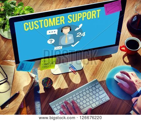 Customer Support Contact Center Advice Concept