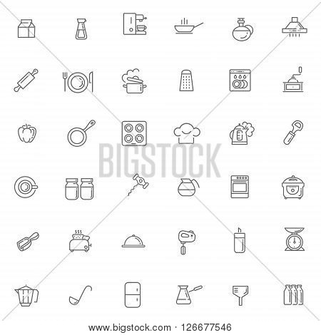 line icon collection - cooking, kitchen tools and utensils