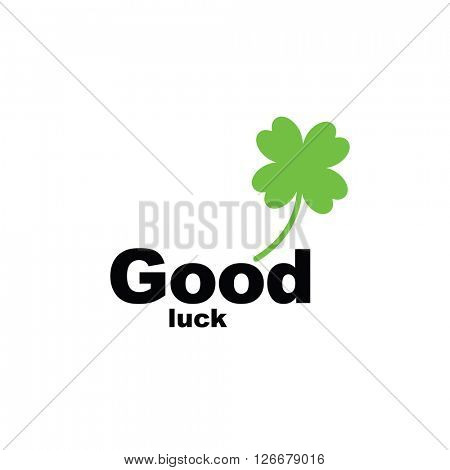 Green four leaf clover - template