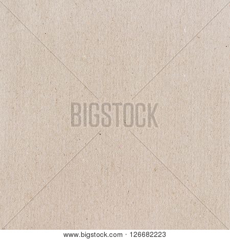 Carton texture. Beige paperboard sheet as background.