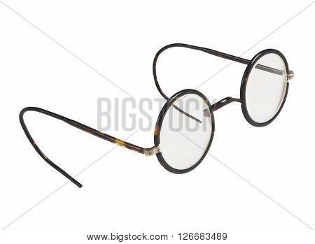Isolated retro, vintage glasses on white background.